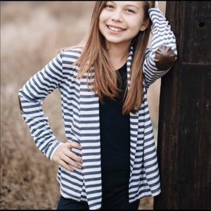 Peyton Bre striped cardigan
